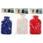 Hot Water Bottle With Knitted Cover 2ltr (00520)